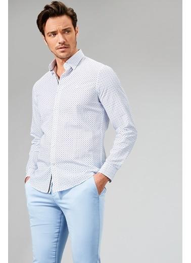 Desenli Slim Fit Uzun Kollu Gömlek-Avva